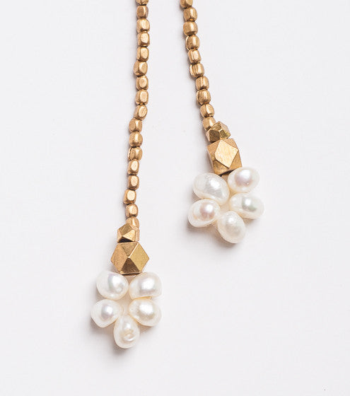 CHERY NECKLACE GOLD & PEARL