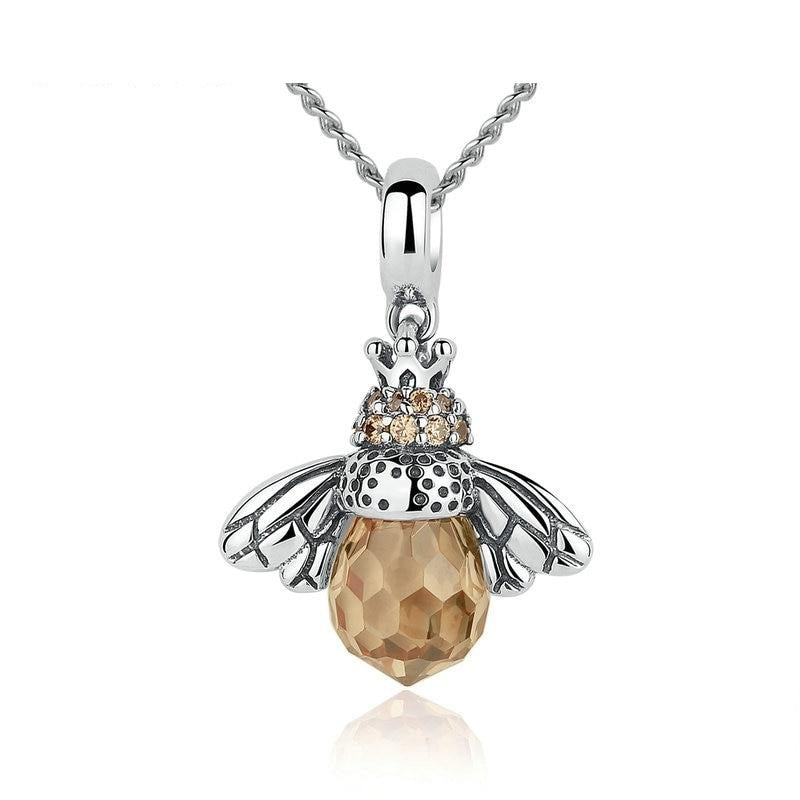 Bee Necklace Pendant 925 Sterling Silver