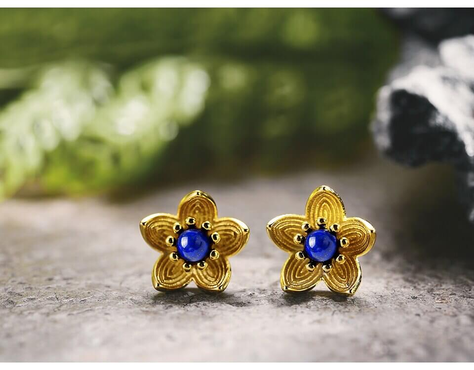 Fresh Flower Gold Earrings
