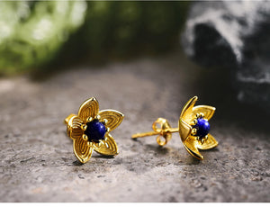 Flower Gold Earrings