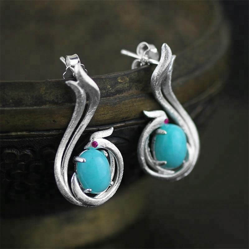 Phoenix Drop Earrings 925 Sterling Silver