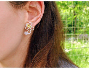 Honeycomb 925 Silver Earrings