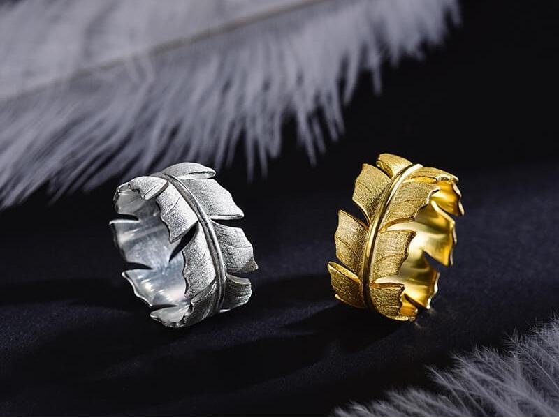 Feather Leaf Ring
