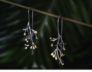 Tree Branch Silver Earrings