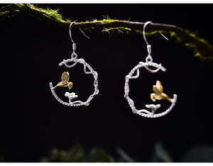 Bird Sterling Silver Earrings