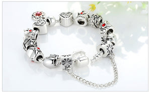Silver Heart Bracelet For Woman