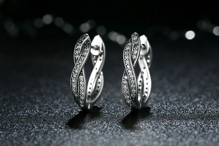Twist Silver Earrings