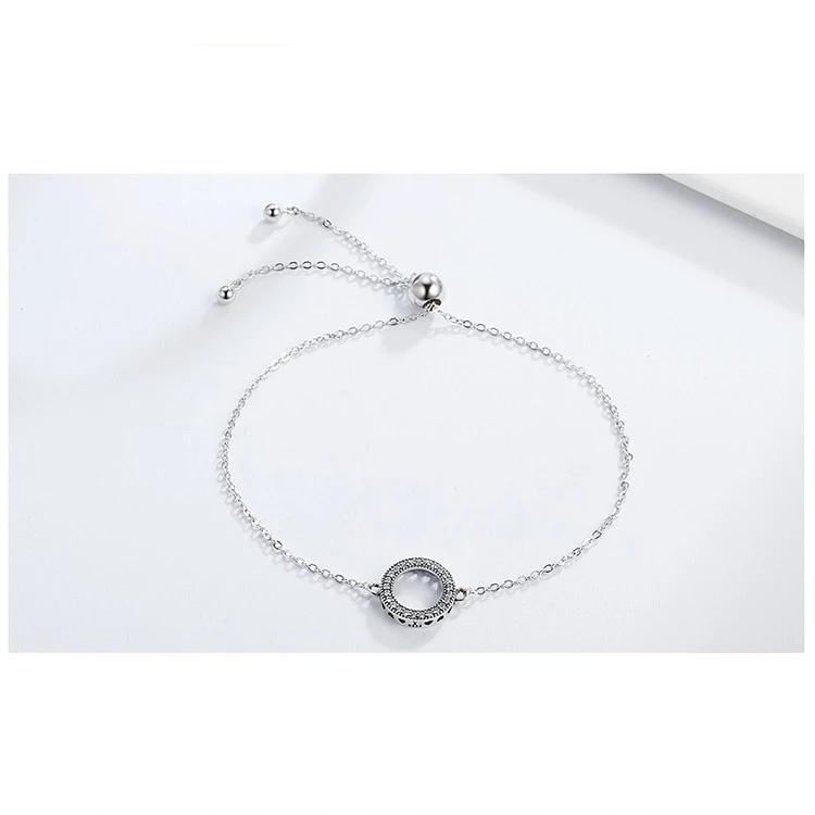 Sterling Silver Bracelet Circle Round