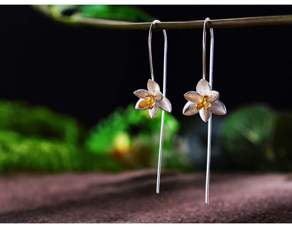 Orchids Silver Earrings