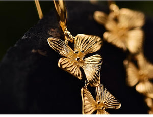 Handmade Flower Gold Earrings