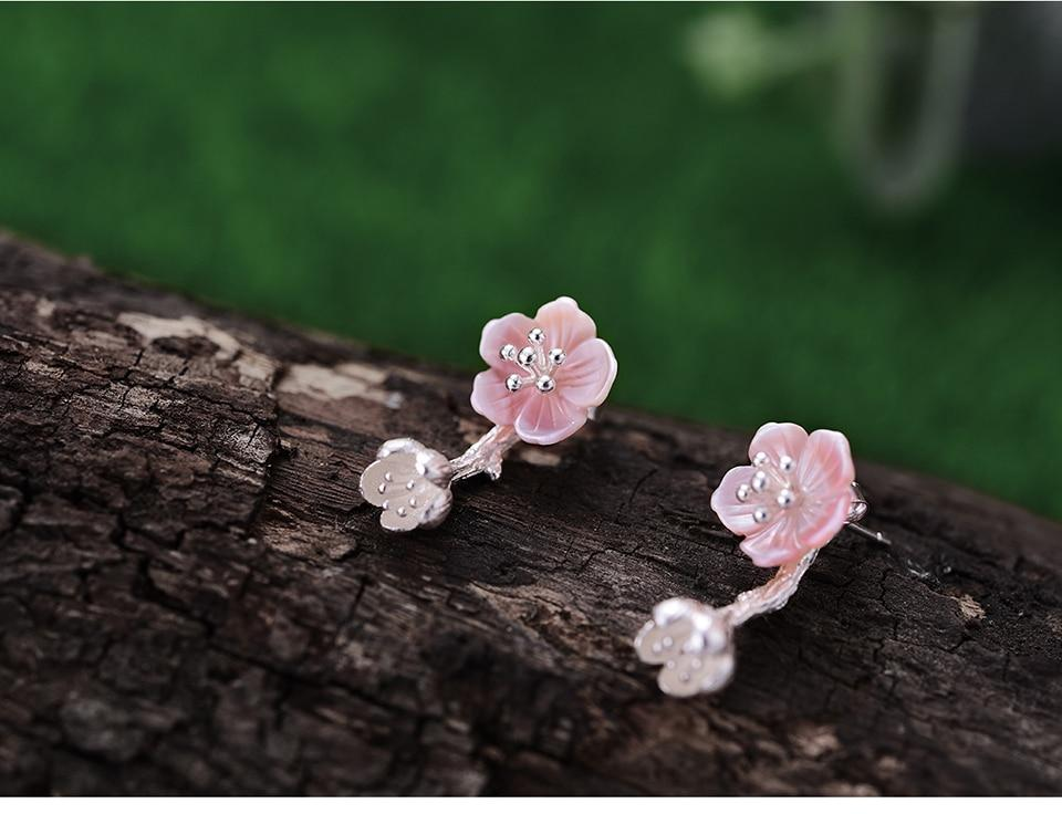 Begonia Silver Earrings