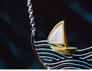 Sailboat Handmade Necklace Pendant 925 Sterling Silver