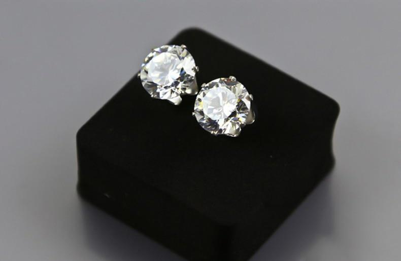 Round Classic Stud Earrings 925 Sterling Silver