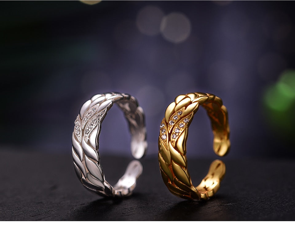 Flower Leaf Silver Ring