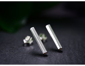 Prism Stud Silver Earrings