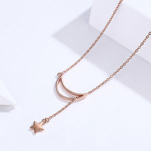 Luna Rose Gold Sterling Silver Necklace