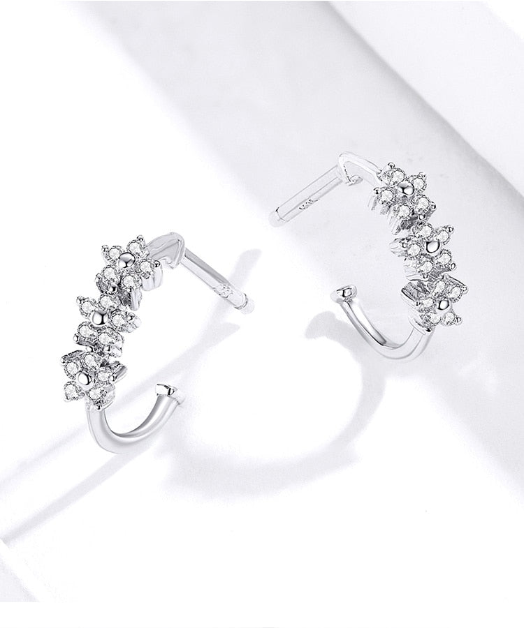 Flowers 925 Sterling Silver Earrings