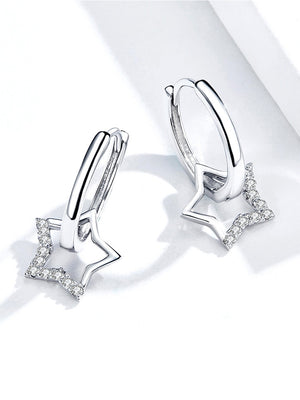 Shiny Stars 925 Silver Earrings