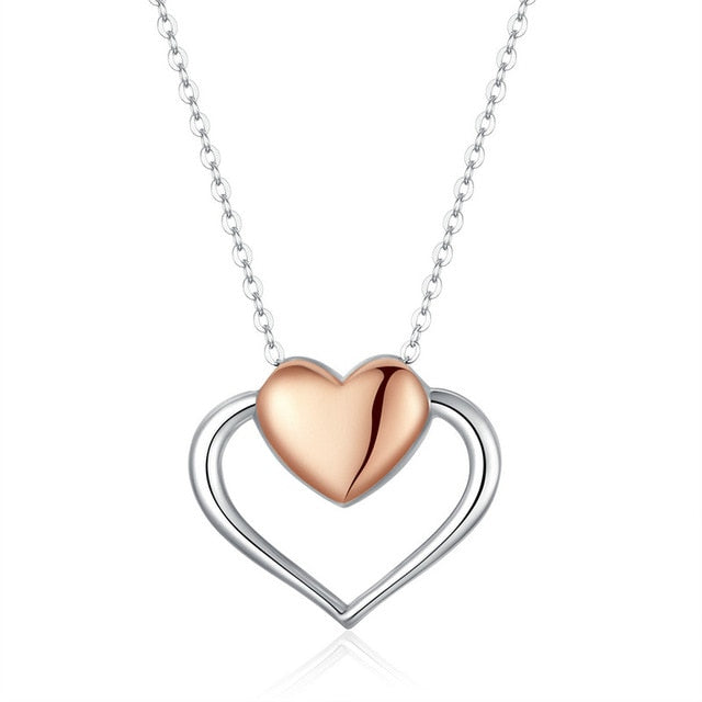 Heart to Heart Sterling Silver Necklace