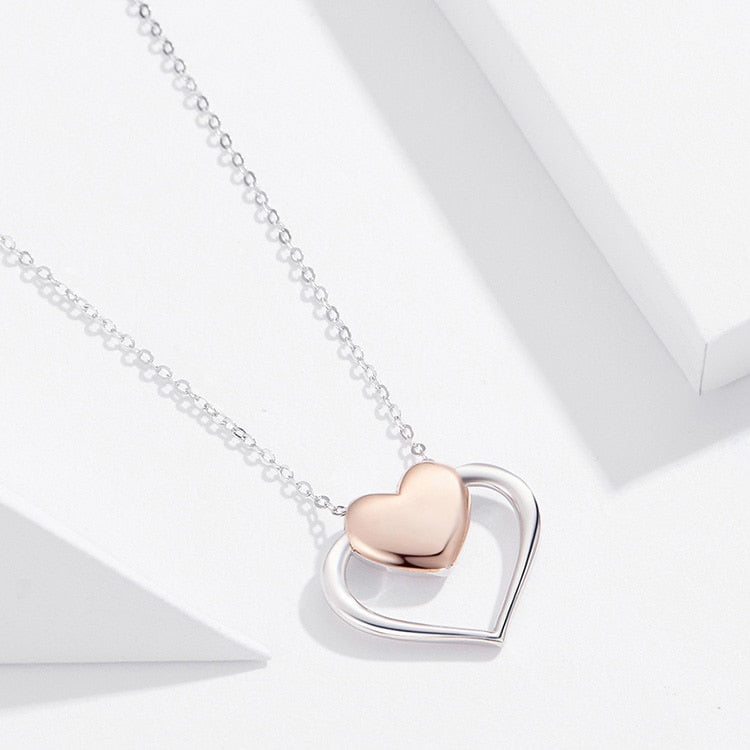 Heart to Heart 925 Sterling Silver Necklace