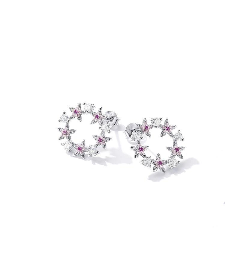Spring Flower 925 Sterling Silver Earrings