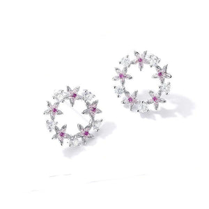 Floral 925 Sterling Silver Earrings