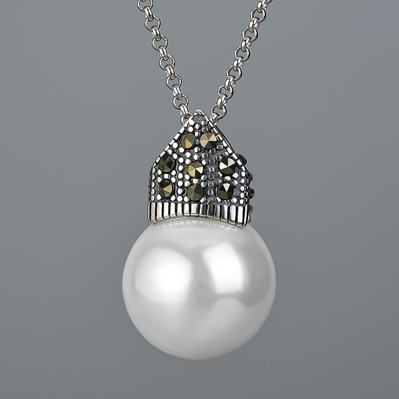 Cultured Pearl 925 Sterling Silver Pendant Necklace