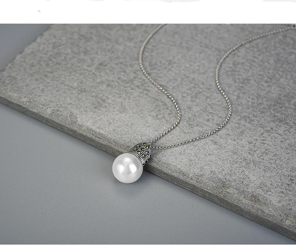 Necklace Pendant Cultured Pearl 925 Sterling Silver