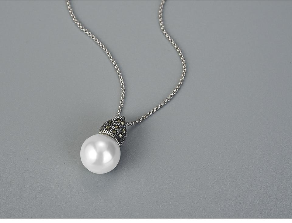 Necklace Cultured Pearl 925 Sterling Silver