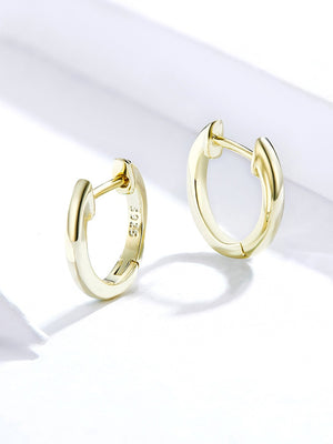 Marion Tiny Gold Hoop Earrings 925 Sterling Silver