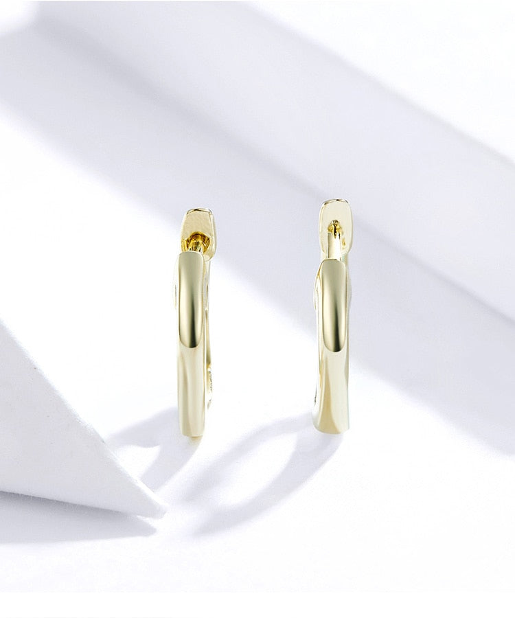 Minimal Hoop Gold Earrings