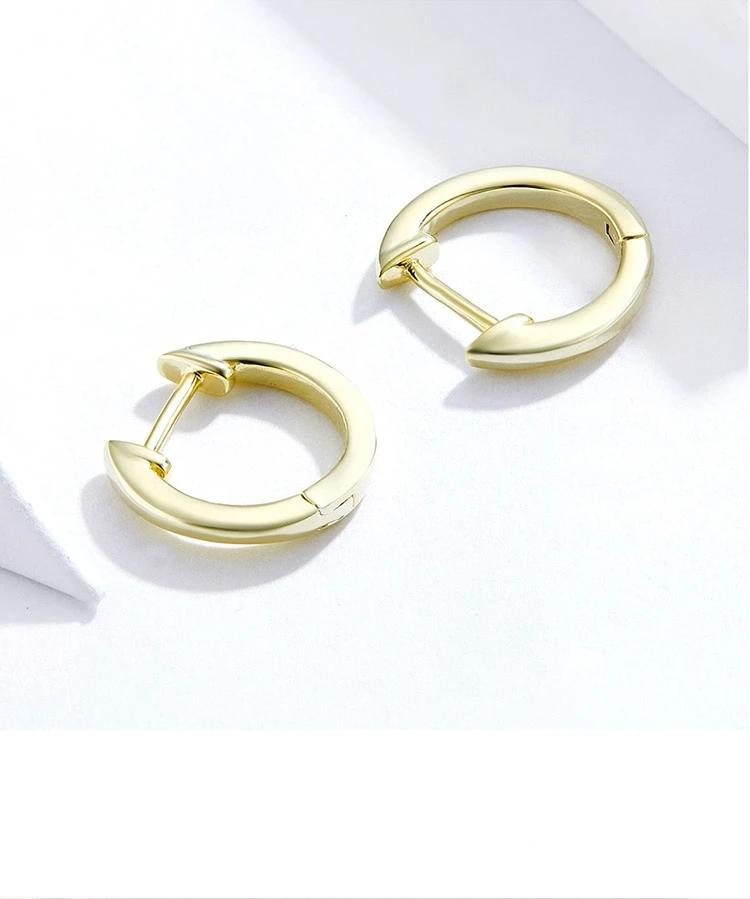 Small Gold Hoop Earrings 925 Sterling Silver