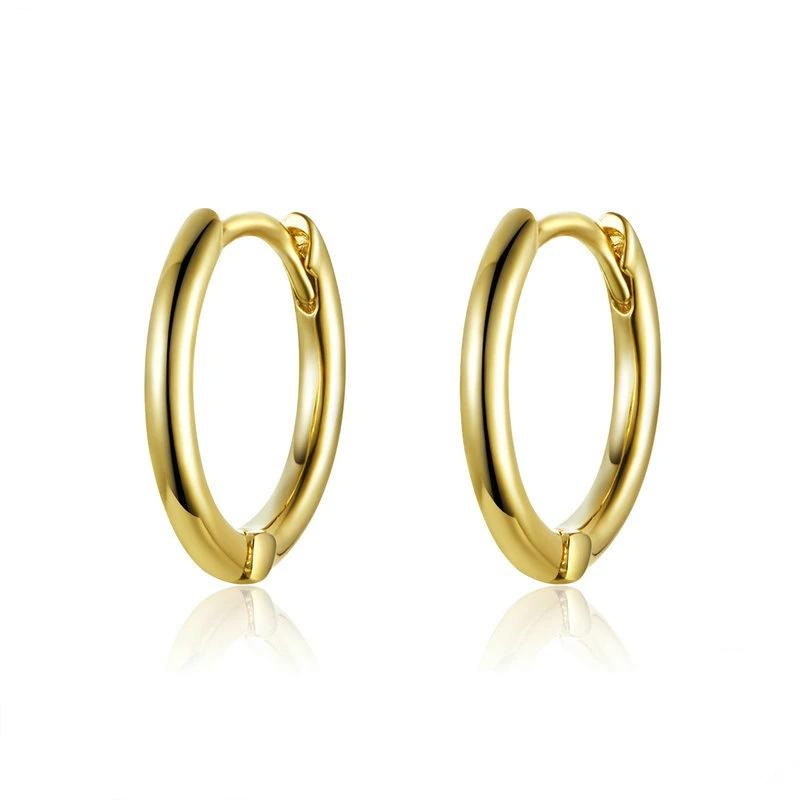 Maria Gold Hoop Earrings 925 Sterling Silver