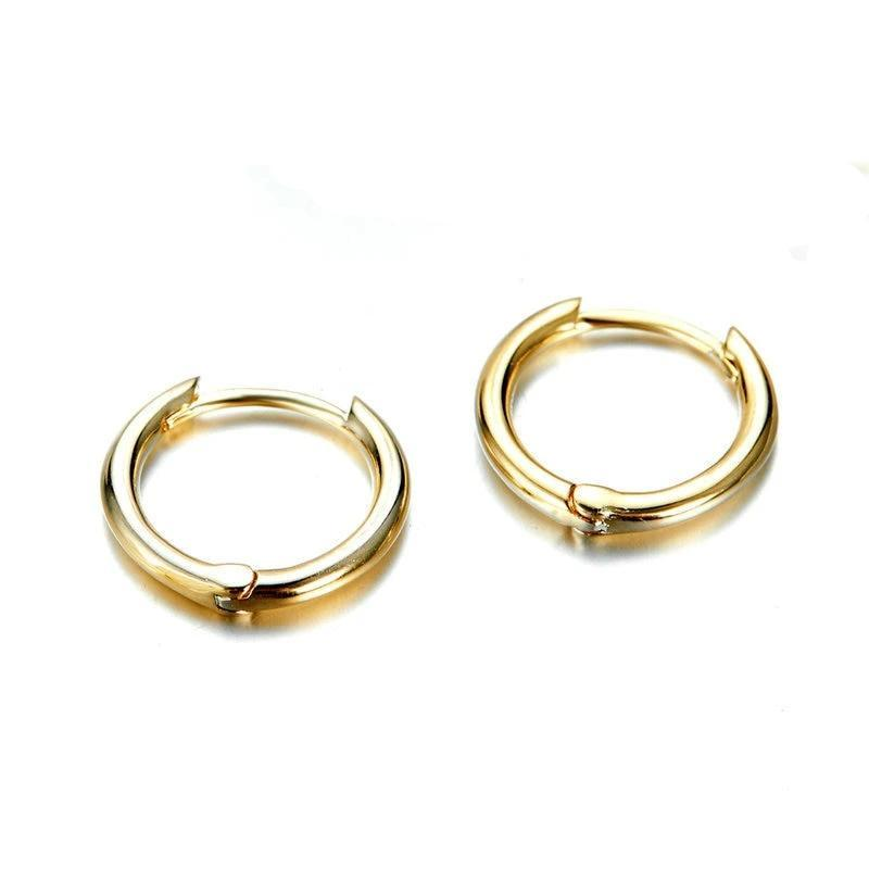 Maria Gold Small Hoop Earrings 925 Sterling Silver