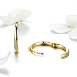 Maria Small Hoop Gold Earrings