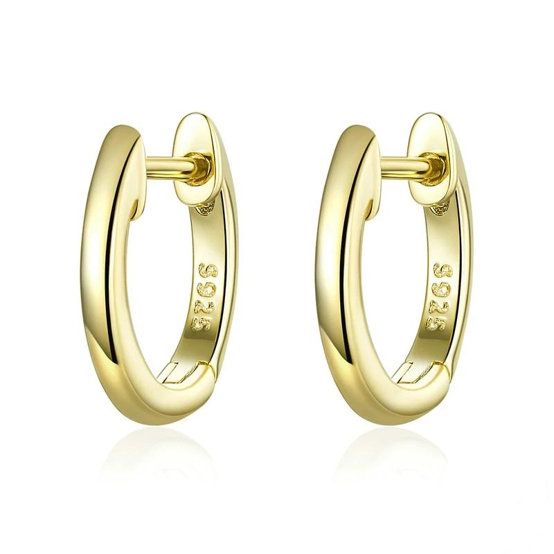 Marion Small Gold Hoop Earrings 925 Sterling Silver