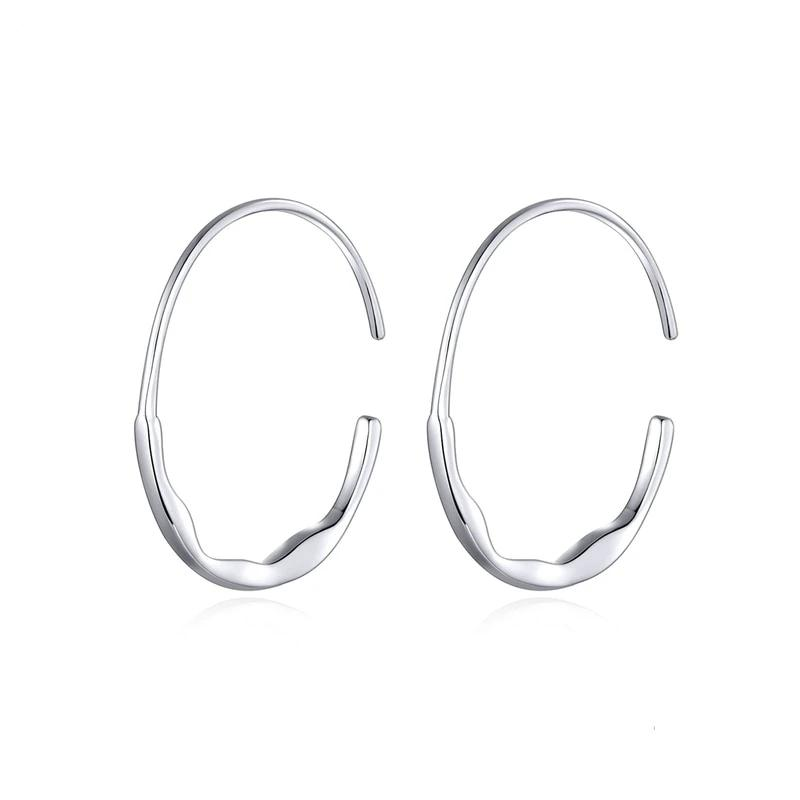 Lisa Hoop 925 Sterling Silver Earrings