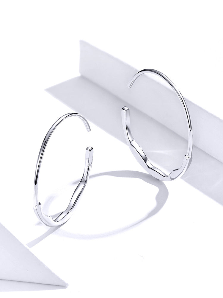Hoop Earrings Lisa 925 Sterling Silver