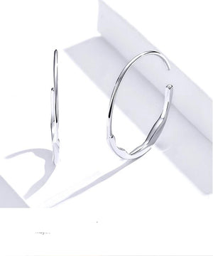 Hoop Lisa Earrings 925 Sterling Silver