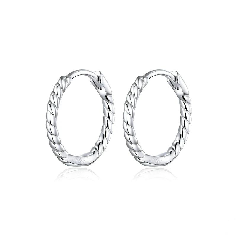 rope design circle earrings