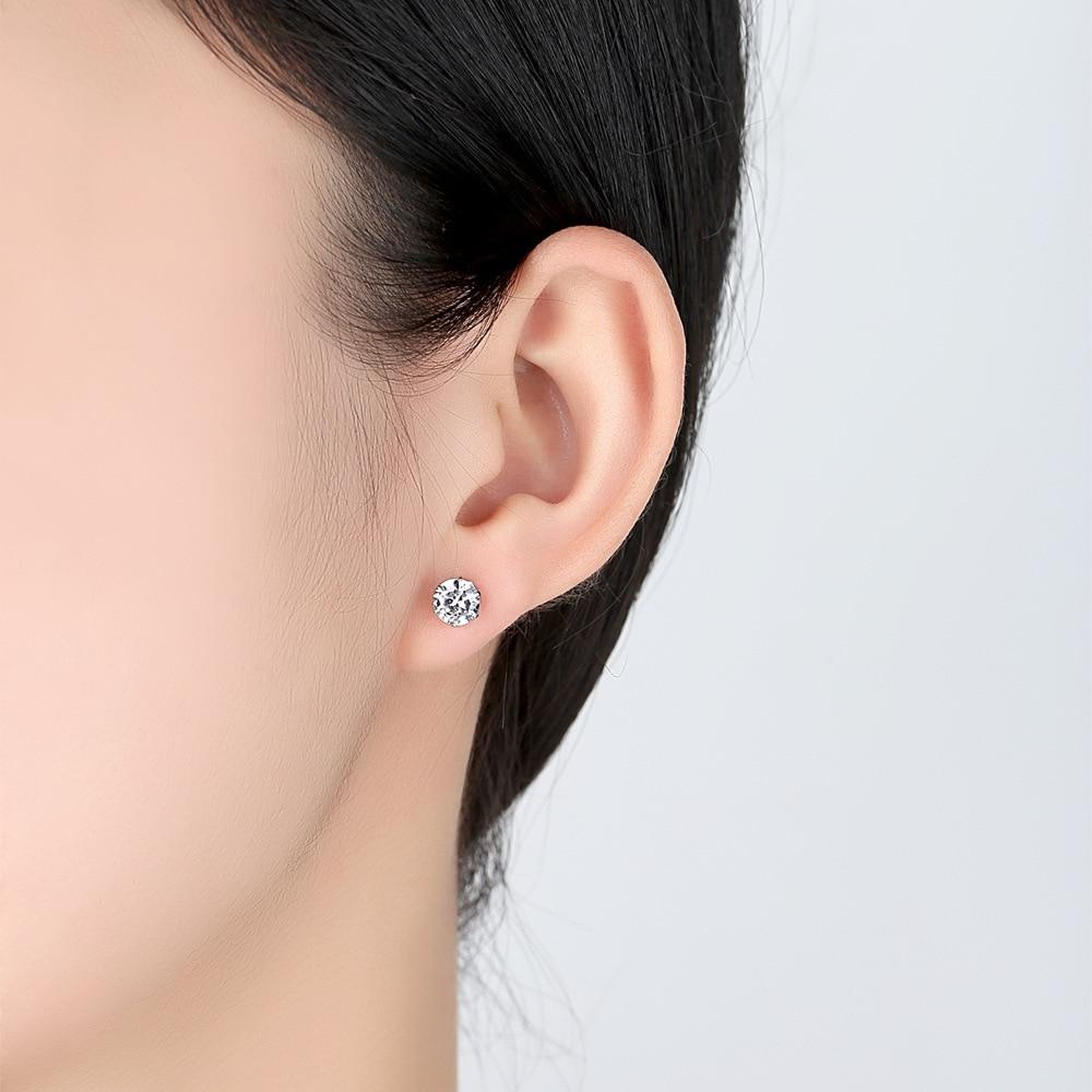 Classic Round Cubic Zirconia Stud Earrings