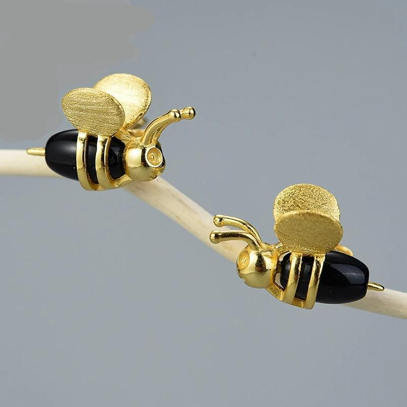 Bee 18K Gold Earrings