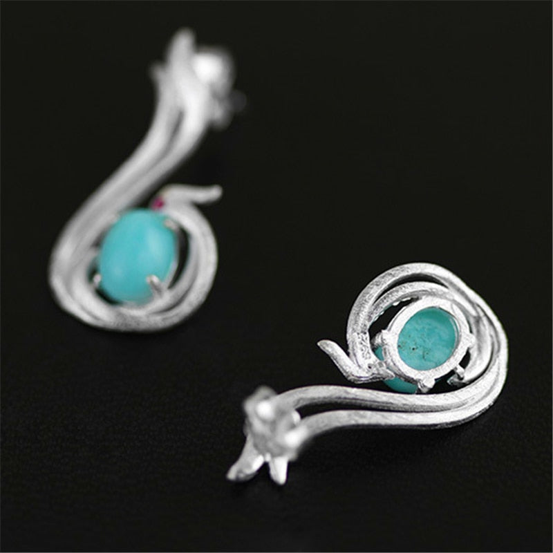 Phoenix Earrings Jewerly 925 Sterling Silver