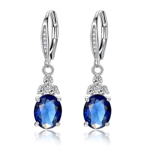 Dream Blue Silver Earrings
