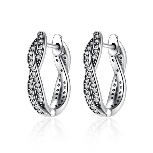 Twist 925 Sterling Silver Earrings