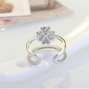 Lucky Clover 925 Sterling Silver Ring