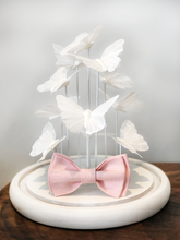 Load image into Gallery viewer, Belfast Linen Pink Bow Tie