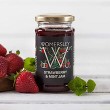 Load image into Gallery viewer, Womersley Strawberry & Mint Jam