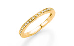 Diamantring 585 Gelbgold Diamanten 0,11 Karat