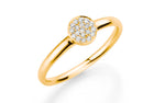 Diamantring 585 Gelbgold Diamanten 0,10 Karat